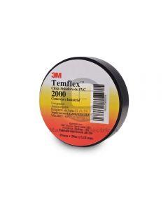 Cinta Vinílica Temflex 2000 Negro (19Mmx20Mx7Mils)