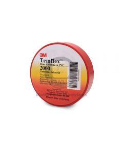 Cinta Vinílica Temflex 2000 Rojo (19Mmx20Mx7Mils)