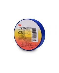 Cinta Vinílica Temflex 2000 Azul (19Mmx20Mx7Mils)