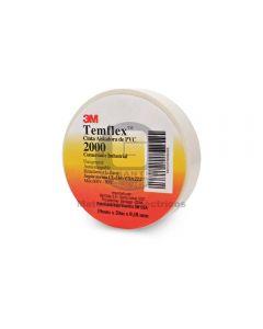 Cinta Vinílica Temflex 2000 Blanca (19Mmx20Mx7Mils)