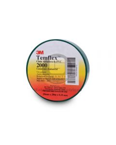 Cinta Vinílica Temflex 2000 Verde (19Mmx20Mx7Mils)
