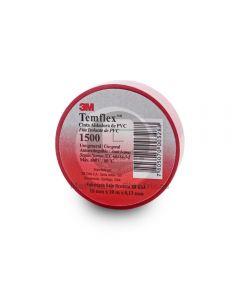 Cinta Vinílica Rojo Temflex/1500 (18Mmx10Mx5Mils)