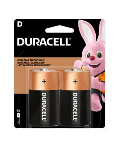 Pilas Alcalinas Duracell (Tipo D)  Pack 2 Unidades
