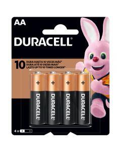 Pilas Alcalinas Duracell (Tipo AA) Pack 4 Unidades