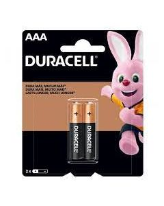 Pilas Alcalinas Duracell (Tipo AAA) Pack 2 Unidades