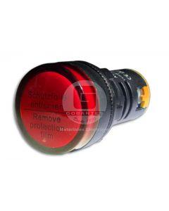 Luz Piloto LED Rojo 220V 22 mm Ekoline