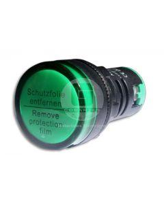 Luz Piloto LED Verde 220V 22 mm Ekoline