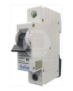 Interruptor Automático 1 x 10A 6K Curva C Ekoline