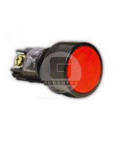 Pulsador Simple Rojo 1NA-1NC Ekoline