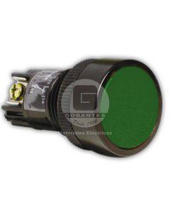 Pulsador Simple Verde 1NA-1NC Ekoline