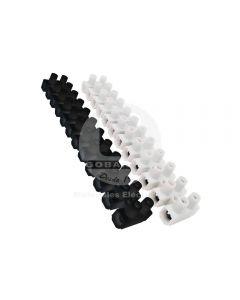 Regleta Plástica de Conexión (16 mm) 12P Negra Ekoline