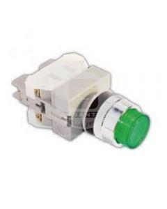 Pulsador Luminoso Verde 3A 220V 1NA-1NC Ekoline
