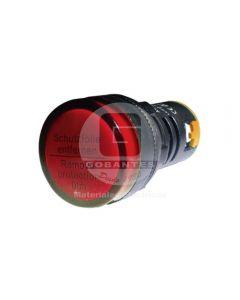 Luz Piloto LED Rojo 110V 22 mm Ekoline