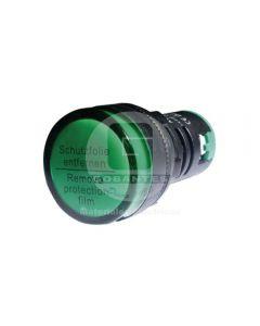 Luz Piloto LED Verde 110V 22 mm Ekoline