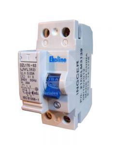 Interruptor Diferencial 2 x 40A 30MA Ekoline