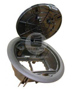 Caja Empotrable Circular 4 Módulos Negra 83002 Efapel