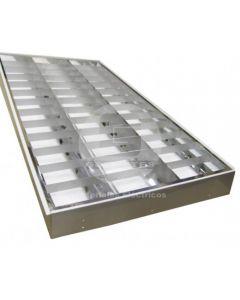 Equipo Alta Eficiencia Sobrepuesto 2x1200 mm P/Tubo LED S/Tubo LED Ekoline