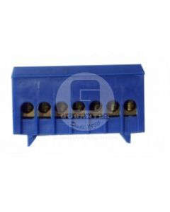 Regleta Distribución 7P Azul Cubierta Plástico Ekoline