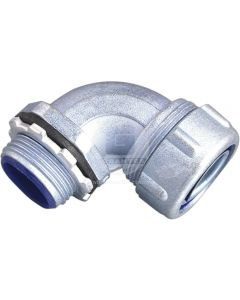 Conector Curvo 20 mm P/Flexible Metálico Ekoline