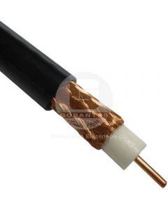 Cable Coaxial RG-59/L 23 AWG Negro (Precio Indicado por Metro)